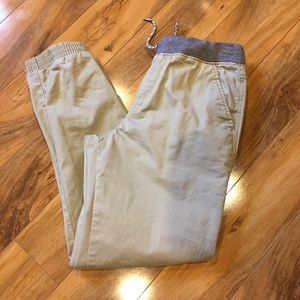 Cat and jack tan joggers size 18